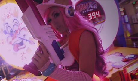 Jessica als Arcade Girl